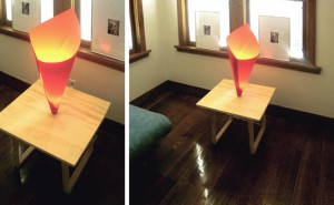 Paper Shade Lamp Table